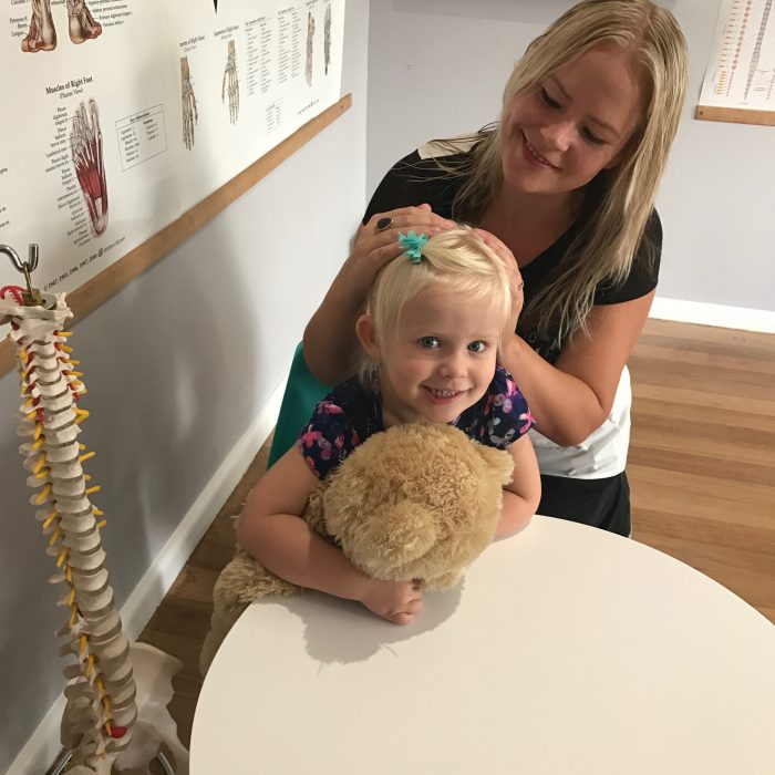 Chiropractic Cranial Adjustment on Child